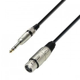 K3BFV Series - Microfoon/Line kabel XLR female naar 6.3 mm Jack stereo 1 tot 10 meter