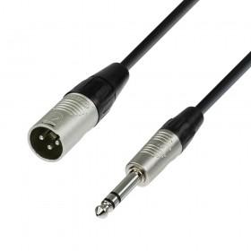 4 Star K4BMV - REAN XLR male naar 6.3 mm Jack stereo kabel 0,3 tot 10 meter