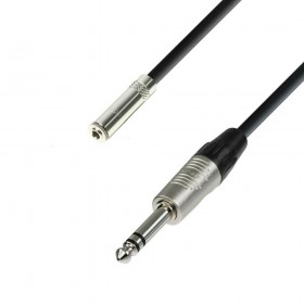 Hoofdtelefoon verleng kabel 3,5 mm stereo Jack female naar 6,3 mm stereo Jack male 3 m
