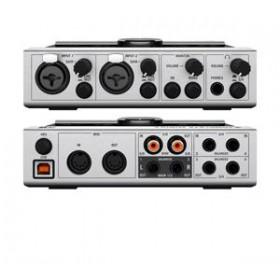 Native Instruments Komplete Audio 6 Geluidskaart + Software voor o.a. opname alle aansluitingen overzicht