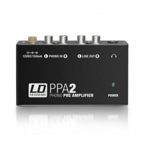 LD Systems PPA 2 - Phono Voorvesterker en Equalizer voorzijde