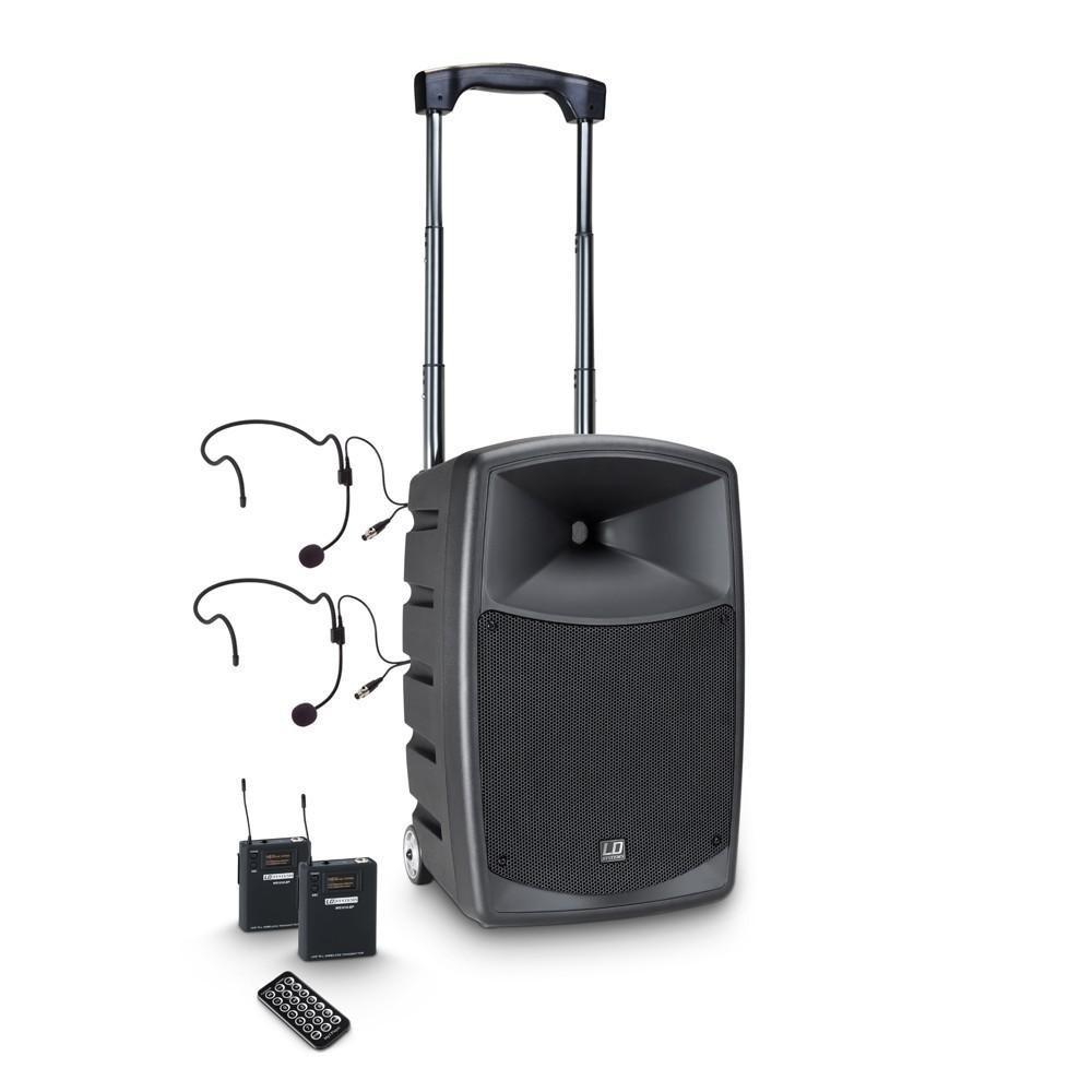 LD Systems Roadbuddy 10 BPH 2 - Bluetooth-speaker op accu, met mixer, 2 bodypacks en 2 headsets hoofdafbeelding