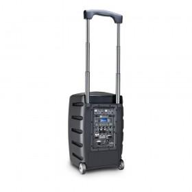 LD Systems Roadbuddy 10 BPH 2 - Bluetooth-speaker op accu, met mixer, 2 bodypacks en 2 headsets trolly