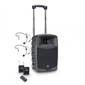LD Systems Roadbuddy 10 BPH 2 B6 - Bluetooth-speaker op accu, met mixer, 2 bodypacks en 2 headsets hoofdafbeelding