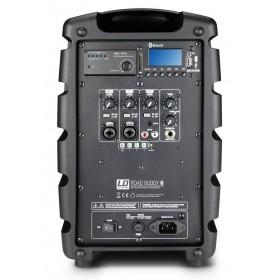 LD Systems ROADBUDDY 6 Portable speaker met Microfoon achterkant aansluitingen bediening