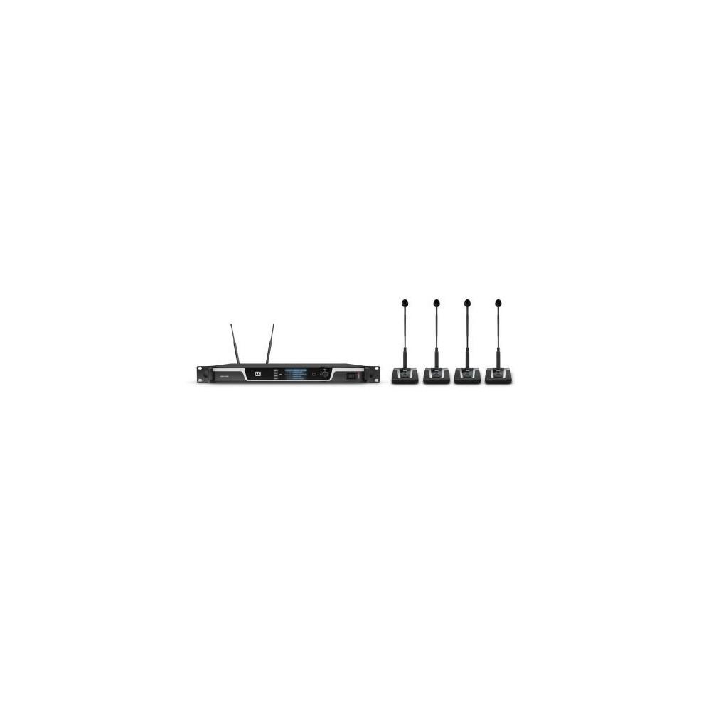 LD Systems U506 CS4 4-kanalen draadloos UHF Conferentiesysteem - compleet