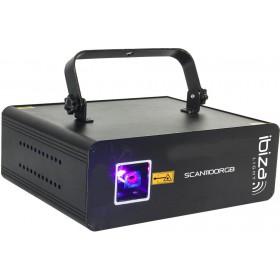 Ibiza Light SCAN1100RGB DMX Bestuurde 1100mW RGB Laser