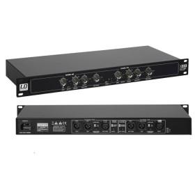 voor en achterkant - LD Systems X 223 Actieve stereo 2 weg of mono 3 weg Crossover