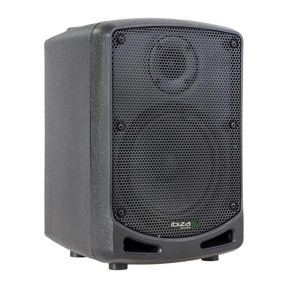 Ibiza Power5-BT Draagbare Actieve 6,5 inch speaker op accu - voorkant