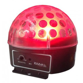 Rood Ibiza Light ASTRO1 RGB LED Bal LICHT EFFECT (oud!)