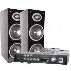LTC Karaoke Star3 BT Complete Set USB, Bluetooth, 2 Microfoons, Speakers