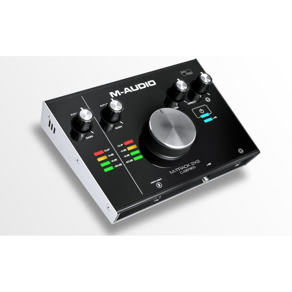M-Audio M-Track 2x2 - USB Audio Interface - schuin voor overzicht