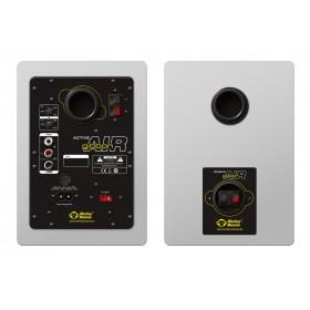 Monkey Banana Gibbon AIR white - Witte Actieve Near-Field Studio Monitor set achterkant, aansluitingen