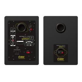 Monkey Banana Gibbon Air Black - Zwarte Actieve Near-Field Studio Monitor achterkant, aansluitingen