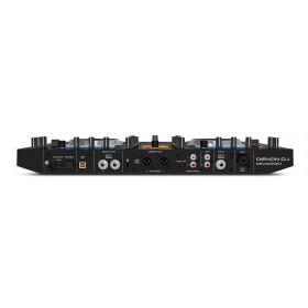 Denon DJ MC4000 2-Decks Serato DJ Controller - achterkant aansluitingen