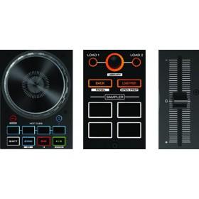 Denon DJ MC4000 2-Decks Serato DJ Controller - deck bediening zoom