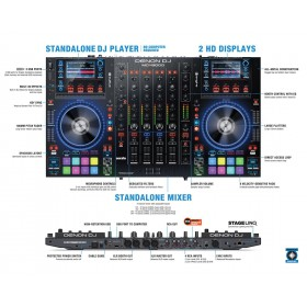 Denon DJ MCX8000 Standalone DJ Controller - uitleg van bediening en aansluitingen