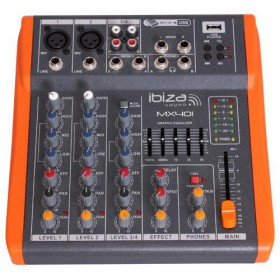Ibiza Sound MX401 - 4-KANAALS MUZIEK MENGPANEEL