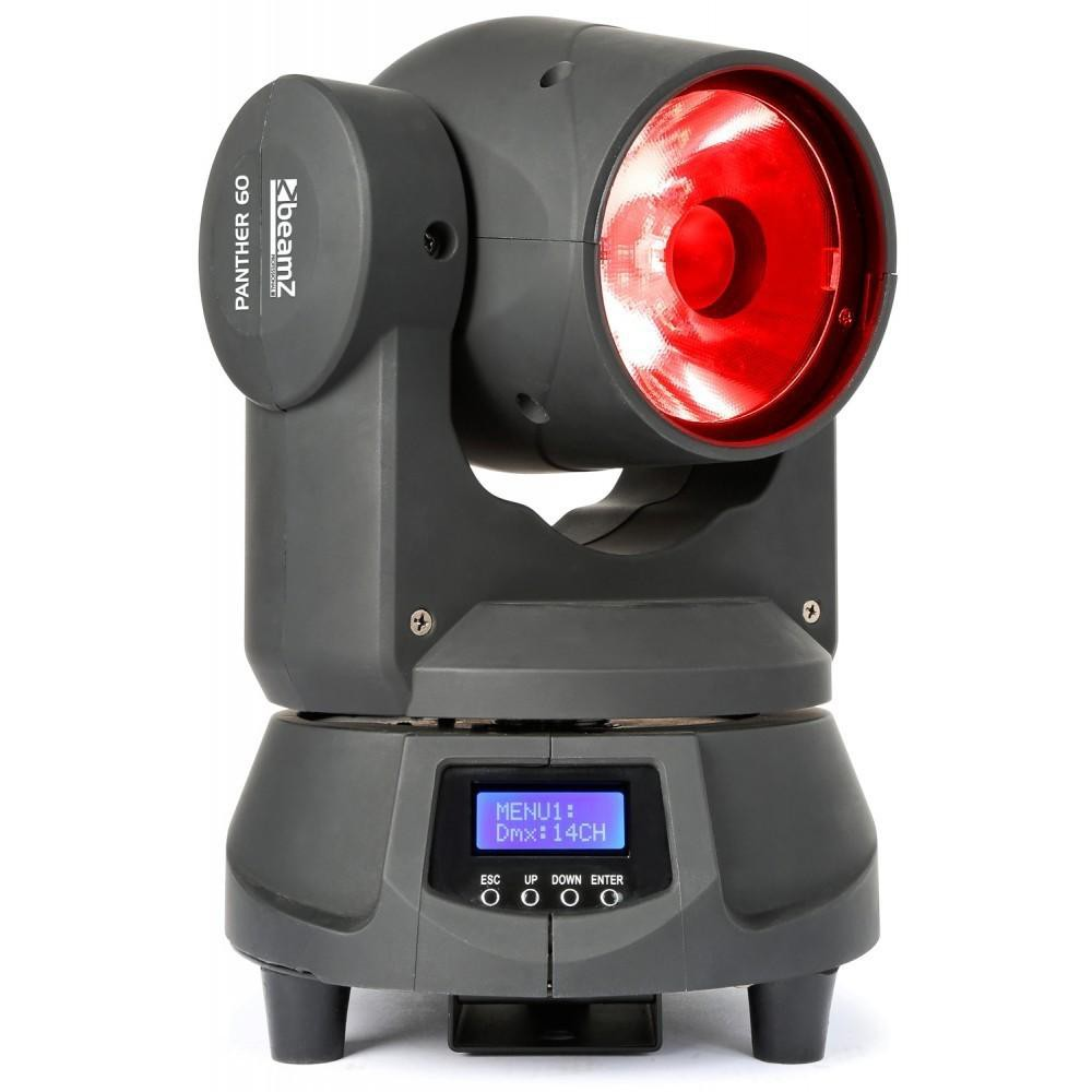 BeamZ Professional Panther 60 LED Beam voorkant rood