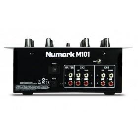 Numark M101 2 kanaals mixer / mengpaneel aansluitingen achterkant