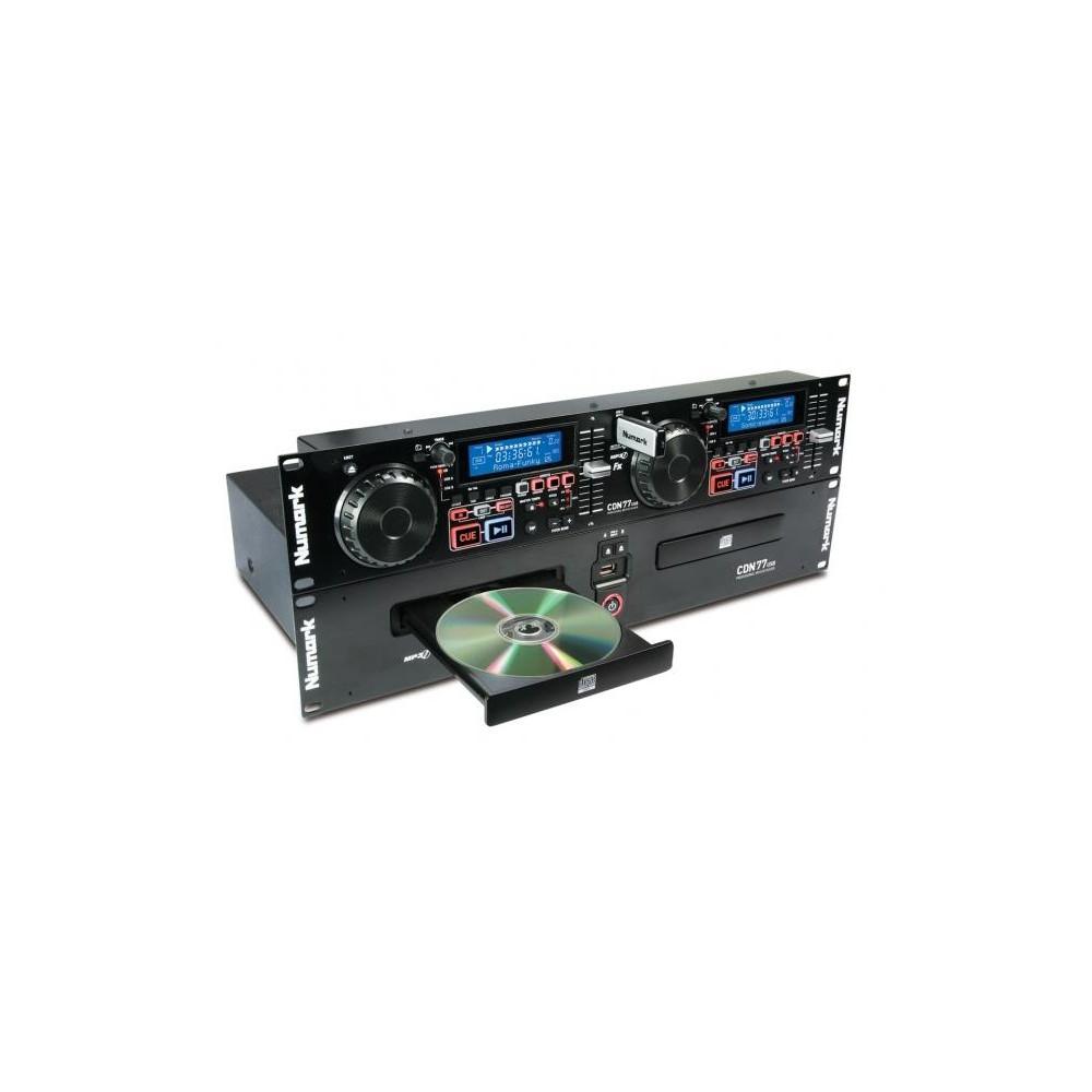 Numark CDN77USB Professionele Dubbele USB MP3 CD Speler (Actie)