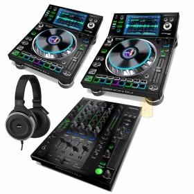 Denon DJ Prime set (2x SC5000 1x X1800) + Gratis AKG 167 DJ Koptelefoon
