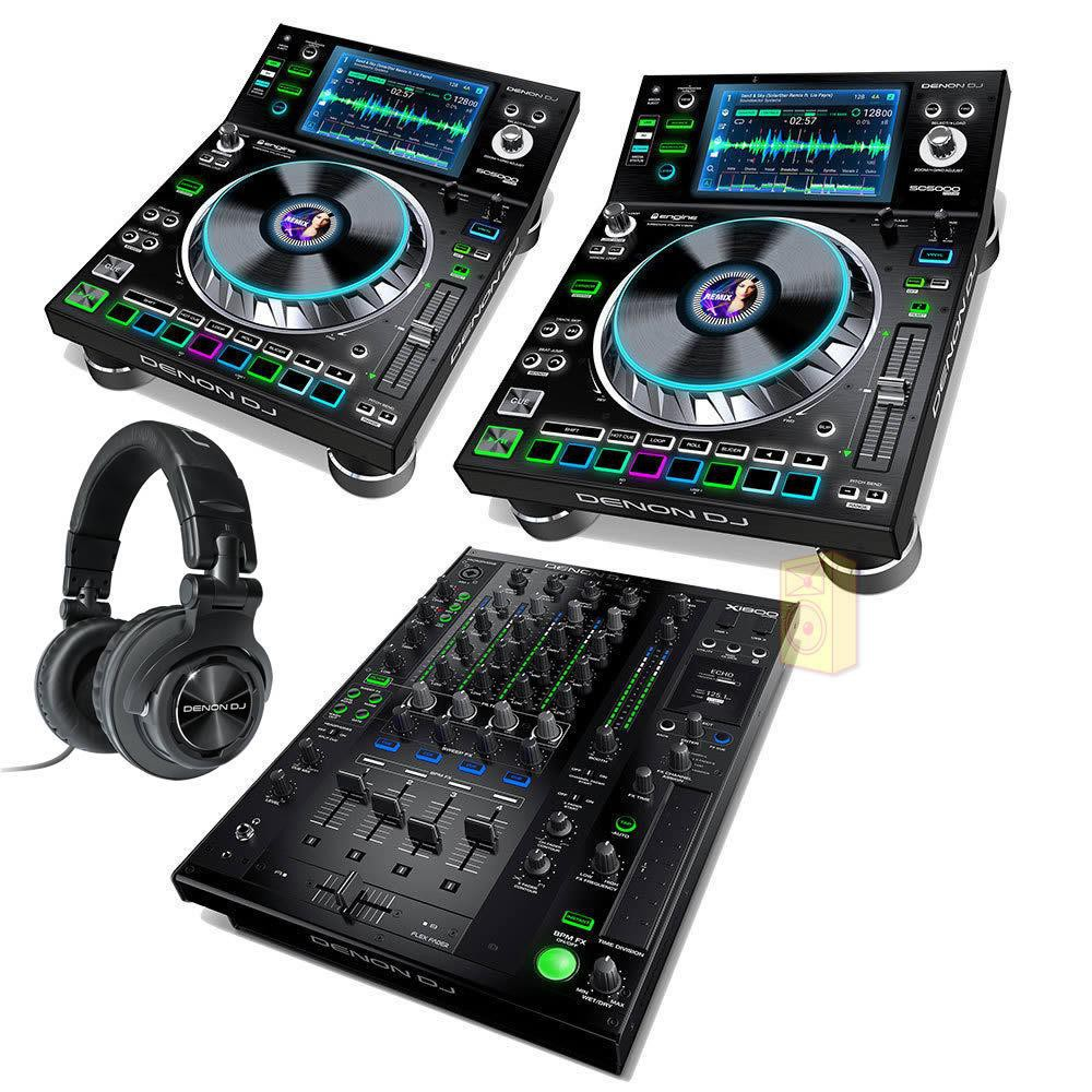 Denon DJ Prime set (2x SC5000 1x X1800) + Denon HP1100 Koptelefoon