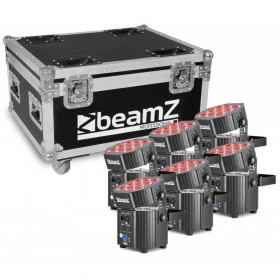 BeamZ Professional BBP60 - Uplighter Set, 6 stuks in Flightcase met lader