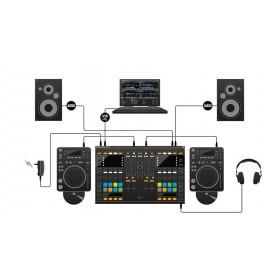 Native Instruments Traktor Kontrol S8 - Digitale DJ USB Midi Controller cdspeler aansluiten en speakers