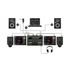 Native Instruments Traktor Kontrol S8 - Digitale DJ USB Midi Controller platen en cd speler aansluiten met speakers