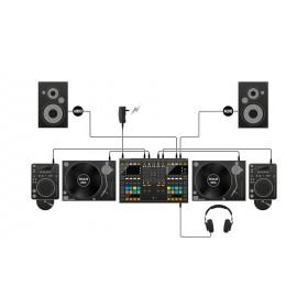 Native Instruments Traktor Kontrol S8 - Digitale DJ USB Midi Controller platen cd en speakers aansluiten zonder computer