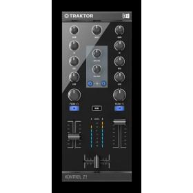 Traktor Kontrol Z1 2 kanalen Mixer Pro Dj Software Controller voorkant bediening