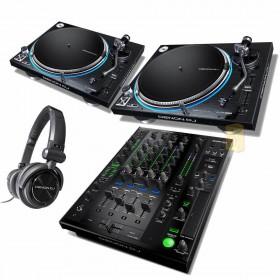 Denon DJ Prime set - 2x VL12 + X1800 + HP1100 hoofdtelefoon
