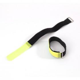 Adam Hall VR 2530 GEEL - hook and Loop Kabelbinder 30 cm geel