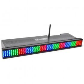 Beamz 2x Wi-bar 192 LED RGB op Batterij en kabel voorzijde
