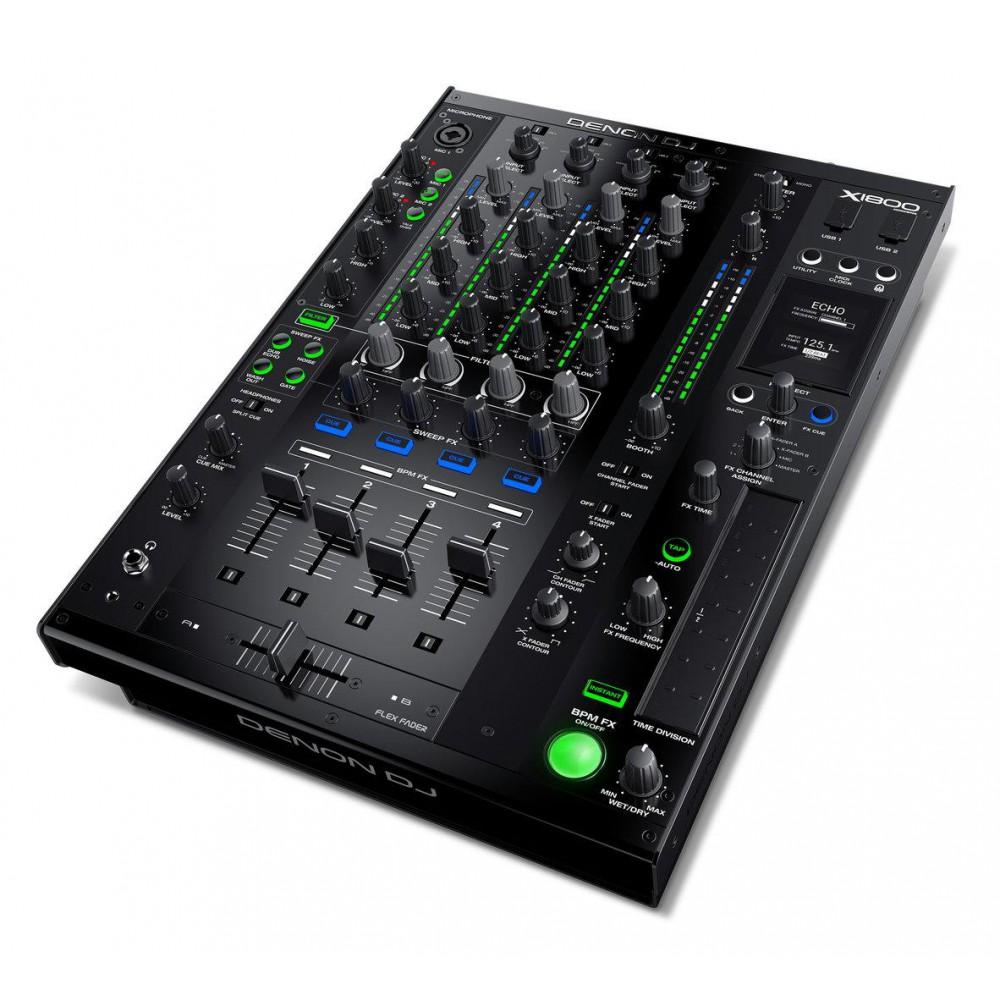 Denon DJ X1800 Prime - Professionele 4-kanaals DJ Club Mixer Actie