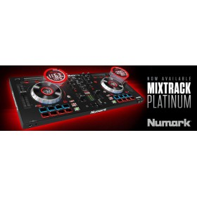 Numark Mixtrack Platinum DJ Controller met display web
