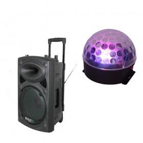 Ibiza Sound PORT15VHF-BT met ASTRO-BAT Licht Effect