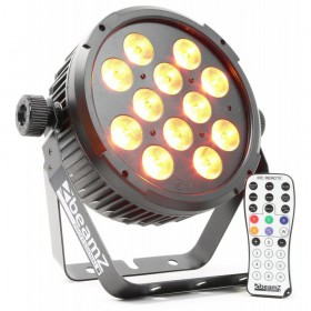 BeamZ BT300 FlatPAR 12x 12W 6-in-1 LEDs met afstandsbediening