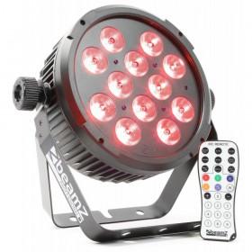 voorkant met afstandsbediening BeamZ BT310 FlatPAR - 12x 8W 4-in-1 LEDs