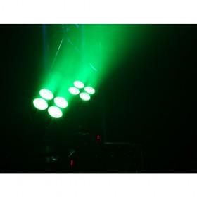 BeamZ MHL36 Moving head set van 2 stuks inclusief tas licht effect 2 groen