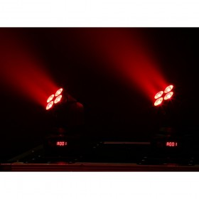 BeamZ MHL36 Moving head set van 2 stuks inclusief tas licht effect 1 rood