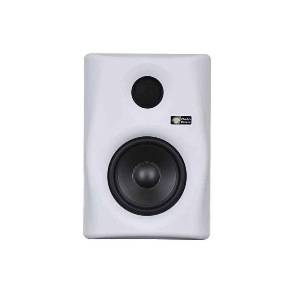 voorkant Monkey Banana Gibbon 5 -  Witte Actieve Near-Field Studio Monitor