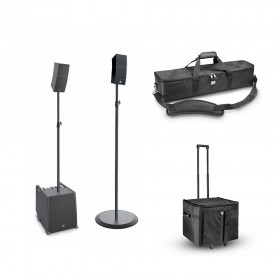 LD Systems CURV 500 ES stereo set + transport tassen