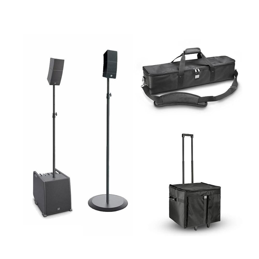 LD Systems CURV 500 ES stereo set + transport tassen