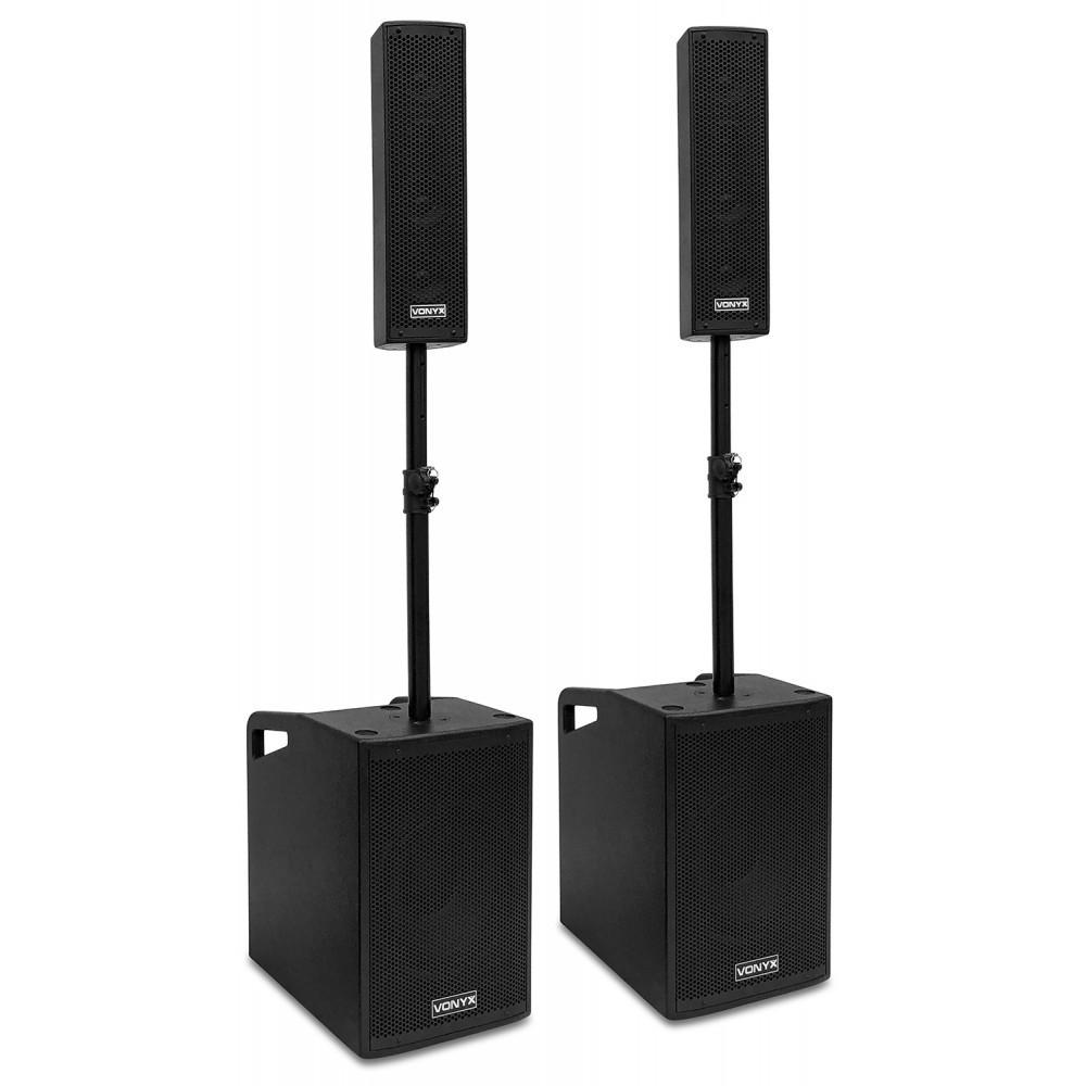 """Vonyx VX1050BT - Complete 12"""" 1150W speakerset (Plug & Play)"""