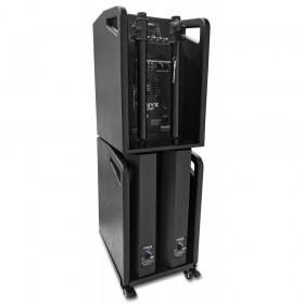 """Makkelijk en compact te stapelen - Vonyx VX1050BT - Complete 12"""" 1150W speakerset (Plug & Play)"""