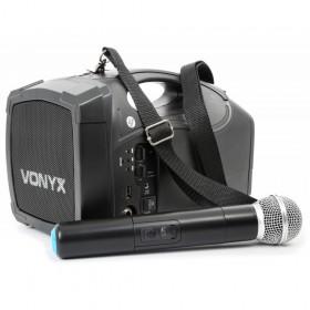 Skytec ST-010 Personal Draadloos PA Systeem met microfoon voorkant