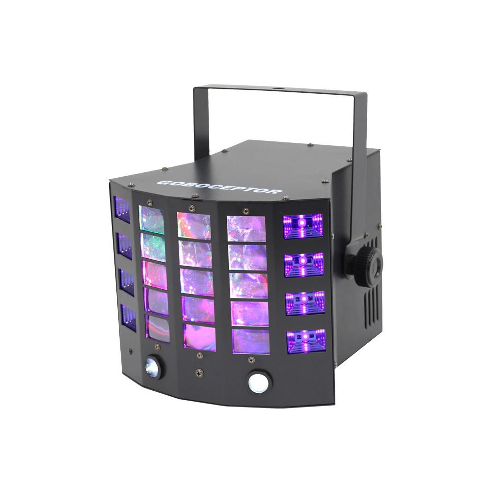 Equinox Goboceptor - Drie in een derby 8x3watt Voorkant Dj verkoop