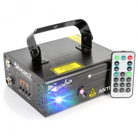 BeamZ Elara - Double Laser 300mW RB Gobo DMX IRC